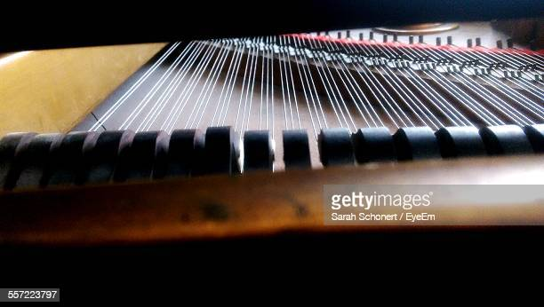 Extreme Close-Up Of Grand Piano
