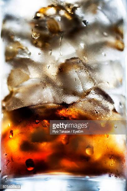 Extreme Close-Up Of Iced Coffee