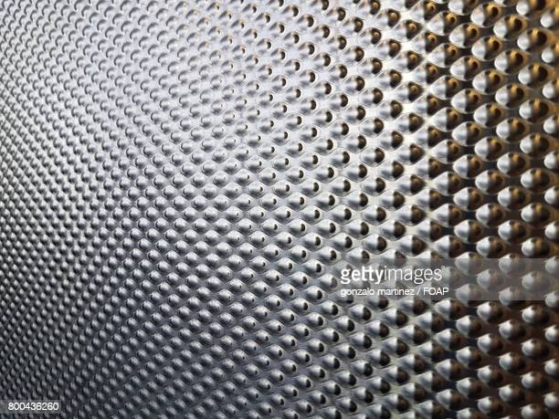 Extreme close-up of metal panel