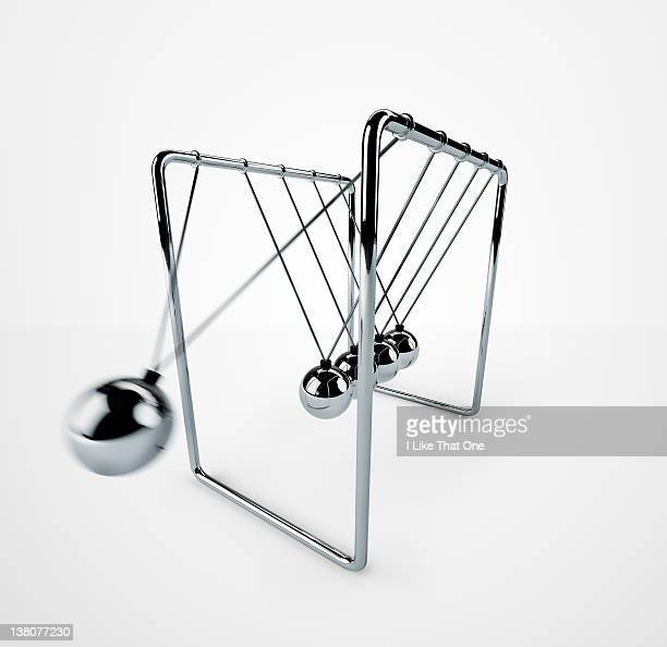 Extreme close-up of Newton's Cradle