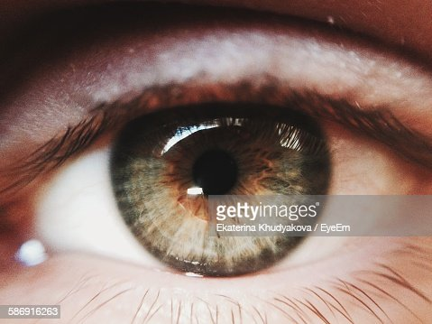 Extreme Close-Up Of Person Eye