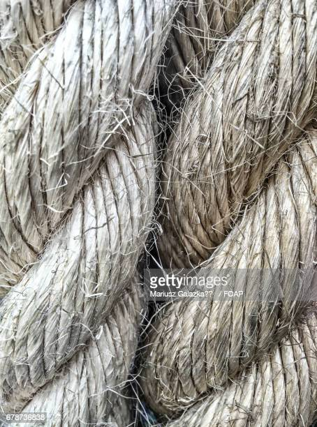 Extreme close-up of rope