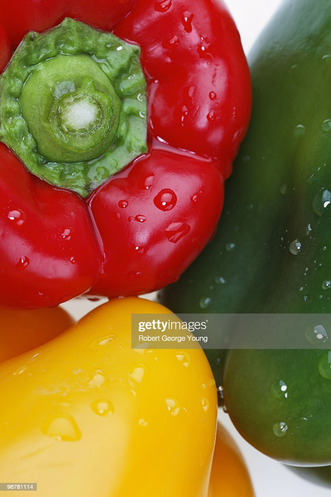 Extreme Closeup of Sweet Peppers