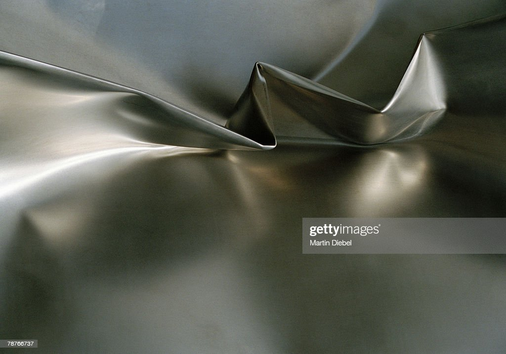 Extreme Close-Up of twisted aluminum