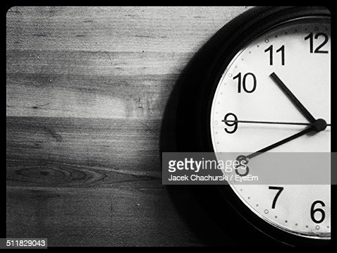 Extreme close-up of wall clock