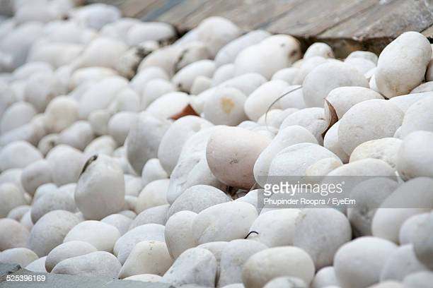 Extreme Close-Up of White Pebbles