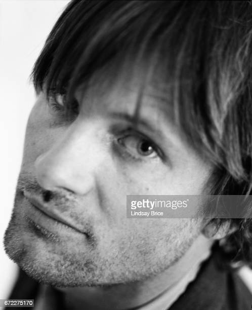 Extreme closeup view of Viggo Mortensen as he lookis into the lens his left eye toward camera during a photo session on April 13 1997 in Beverly...