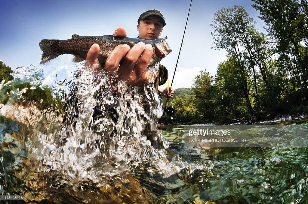 Extreme Fishing : Stock Photo