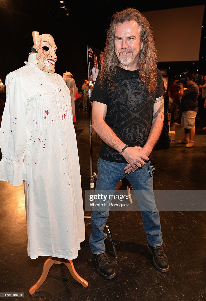 Extreme horror make-up artist Larry Bones attends Universal Studios' 'Halloween Horror Nights' media make-up kick-off at The Globe Theatre on August 27, 2013 in Universal City, California.
