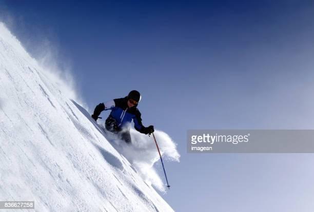 Extreme skiing in St. Anton, Austria