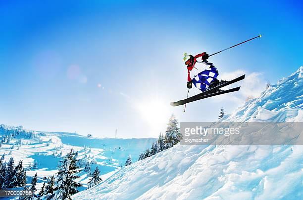 Extreme skiing.