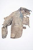 Extremely damaged denim jacket