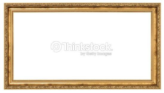 Extremely Long Golden Frame Stock Photo | Thinkstock