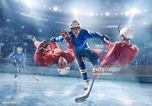 Extremely powerful ice hockey player