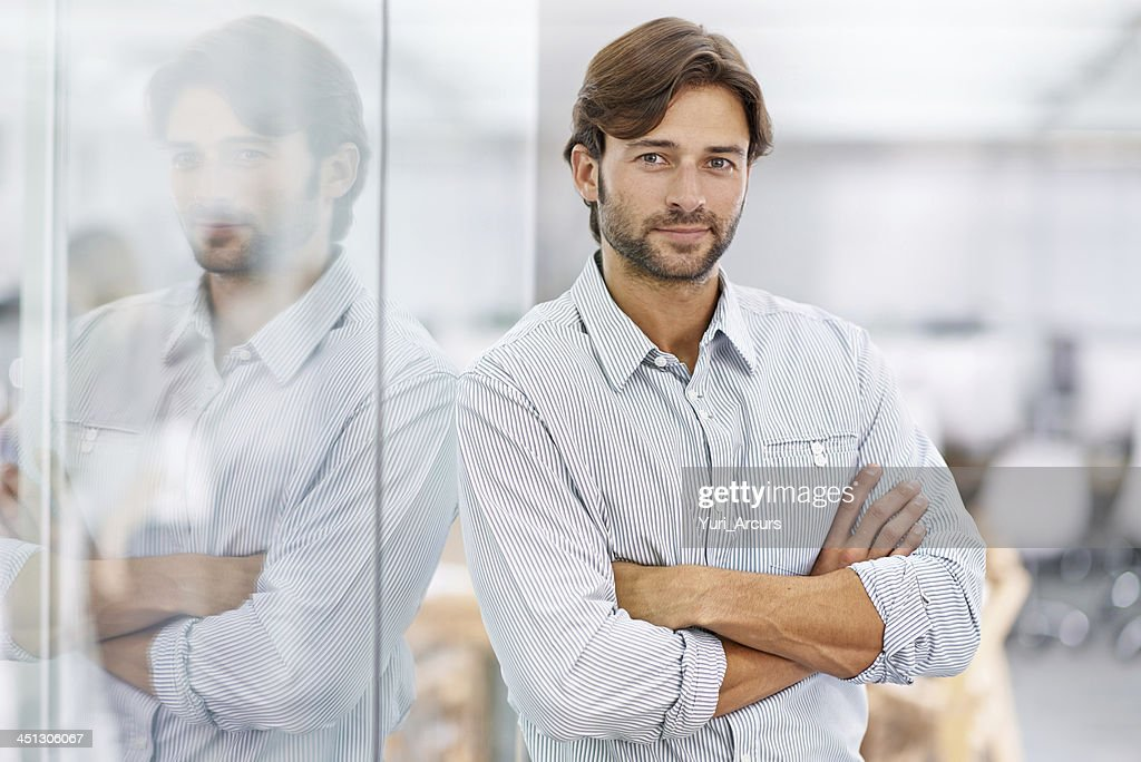 Exuding leadership confidence : Stock Photo