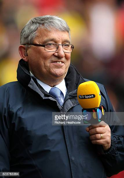 ExWatford manager Graham Taylor looks on prior to The Emirates FA Cup semi final match between Watford and Crystal Palace at Wembley Stadium on April...