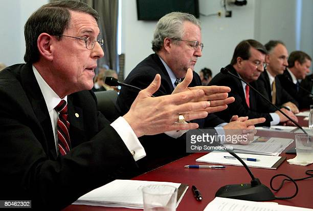 Exxon Mobil Corporation Senior Vice President Stephen Simon responds to questions while testifying before the House Select Energy Independence and...