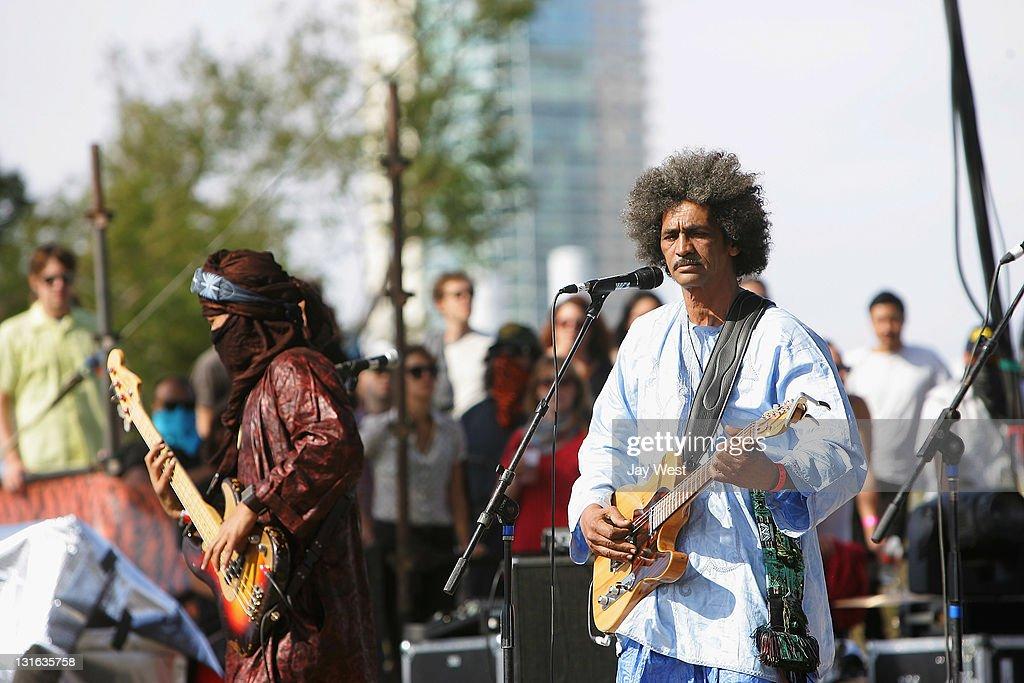 Eyadou Ag leche and Ibrahim Ag Alhabib of Tinariwen perform in conccert on day two of Fun Fun Fun Fest at Auditorium Shores on November 5, 2011 in Austin, Texas.