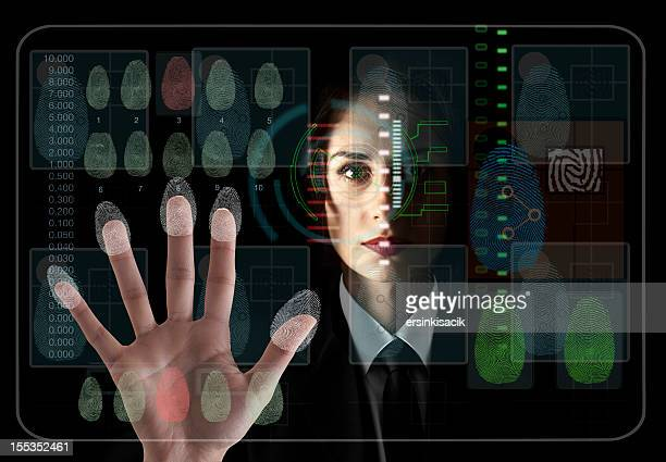 Eye and hand scanning for security