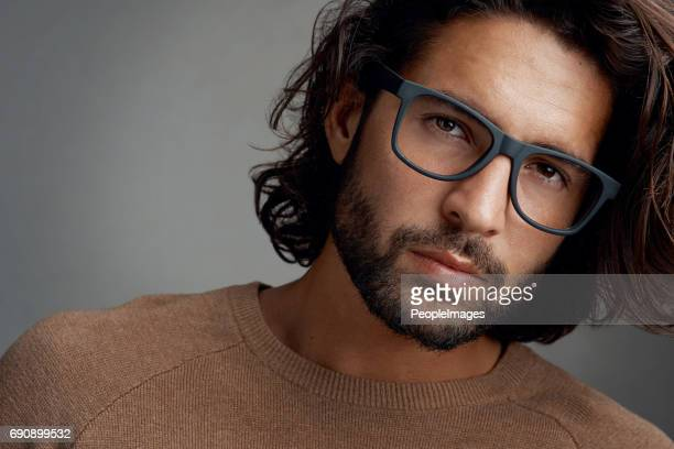 Eye catching frames that suit his face