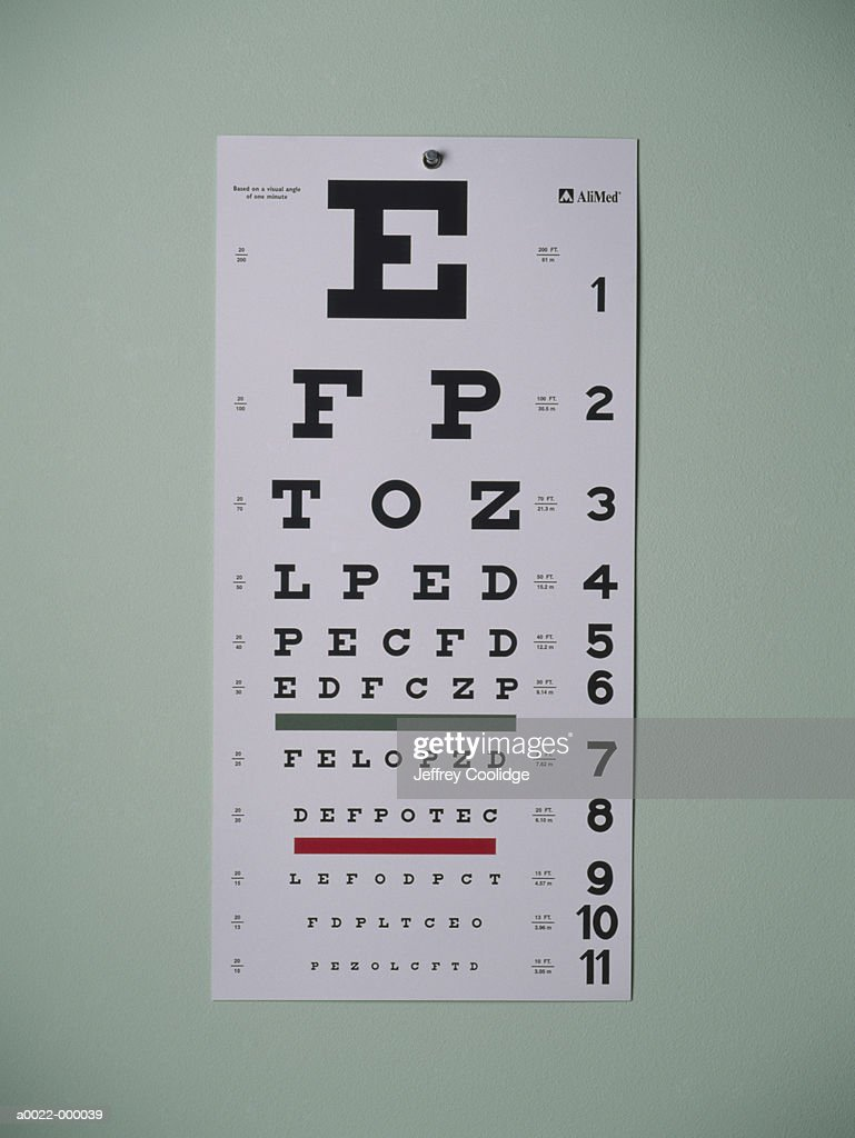 Eye Chart : Stock Photo