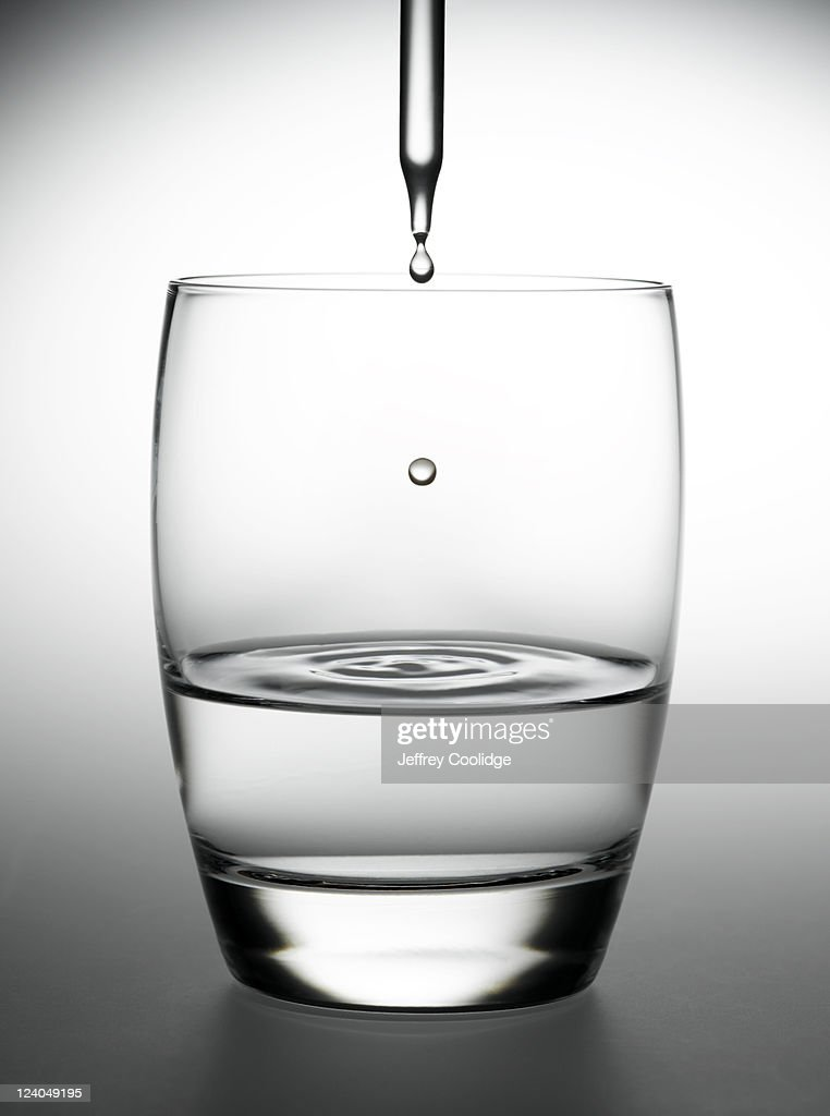 Eye Dropper and Water Glass : Stock Photo