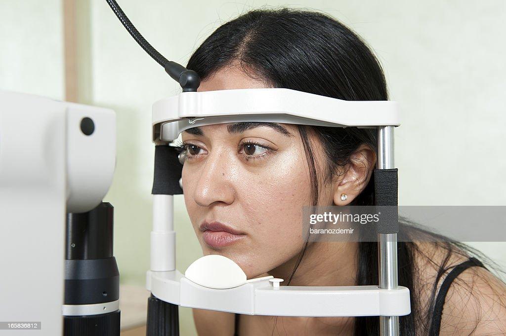 Eye Exam  in the hospital : Stock Photo