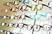 eye glasses on the shelf