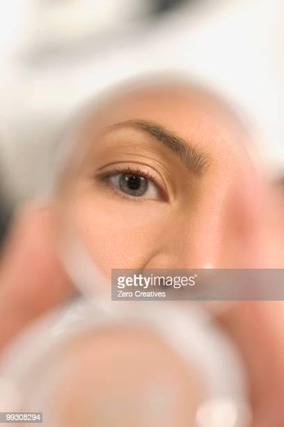 Eye in a mirror