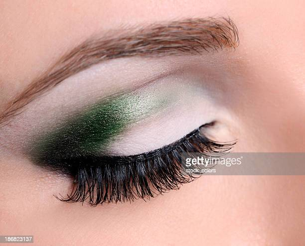 Yeux maquillage macro