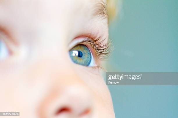 Eye of a little girl, close-up