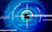 eye scanner - save password combination