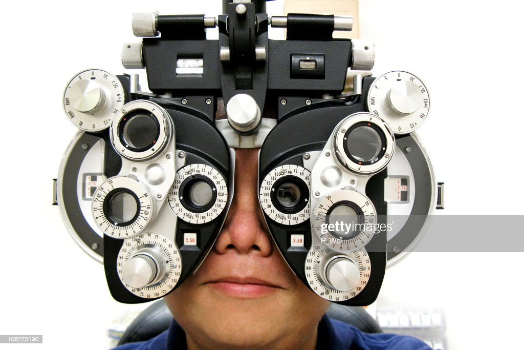Woman Having Eye Test : Stock Photo