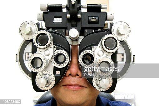 Teste de Ocular : Foto de stock