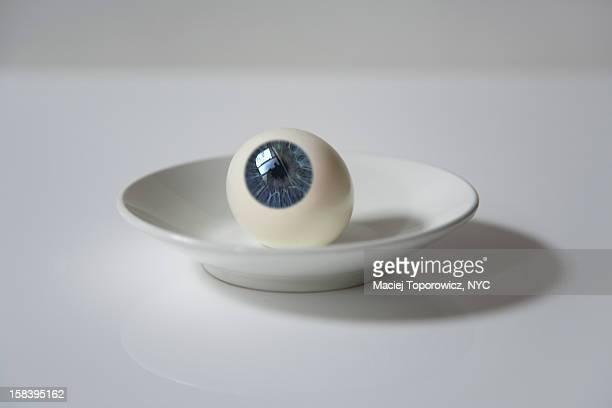 Eyeball on a plate.