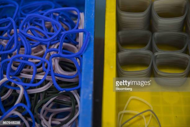 Eyeglass components sit on a table at a Nagai Co factory in Sabae Fukui prefecture Japan on Tuesday Oct 10 2017 Fukui Prefecture has one of the...