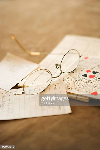 Eyeglasses and papers