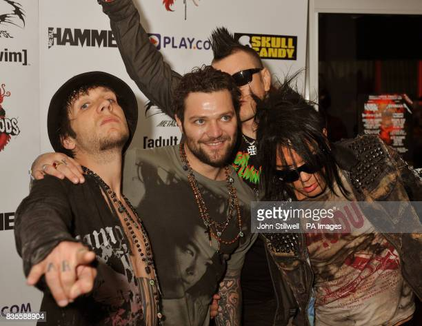 69 Eyes arrive at the Indigo concert venue for the Metal Hammer Golden Gods awards at the O2 Arena in Greenwich south East London
