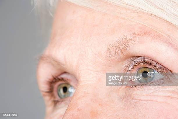 Yeux de la femme âgée