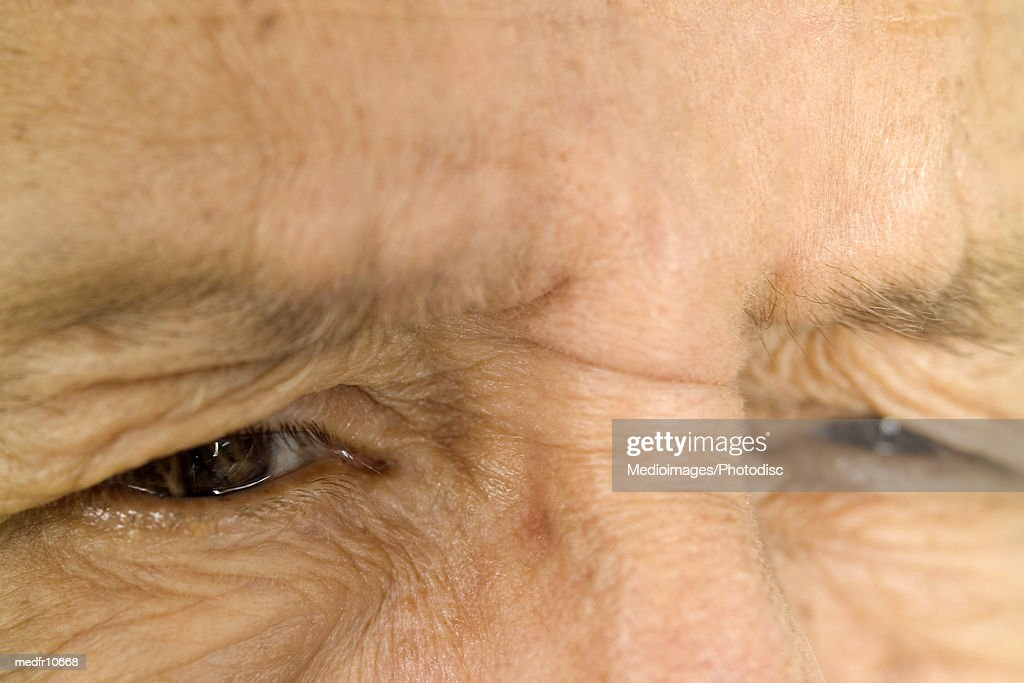 Eyes of an elderly person, close-up