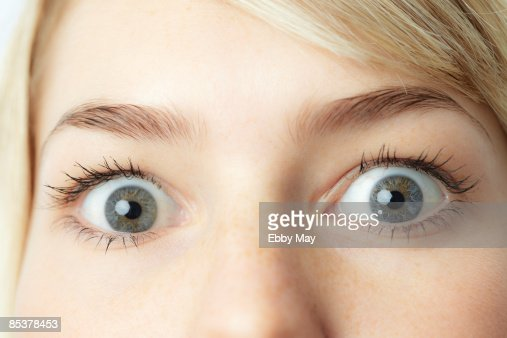 Eyes of young woman, close-up