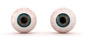 Two eyeballs isolated on white