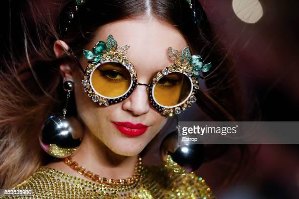 Eyewear Detail at the Dolce Gabbana show during Milan Fashion Week Spring/Summer 2018 on September 24 2017 in Milan Italy