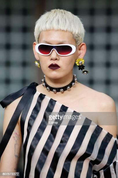 Eyewear detail during the Kenzo Menswear Spring/Summer 2018 show as part of Paris Fashion Week on June 25 2017 in Paris France