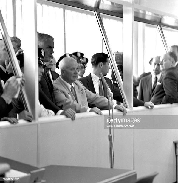 Eyewitness to History Soviet Premier Nikita Khrushchev at IBM plant in San Jose California To Khrushchev's left is IBM chairman Thomas Watson Jr...