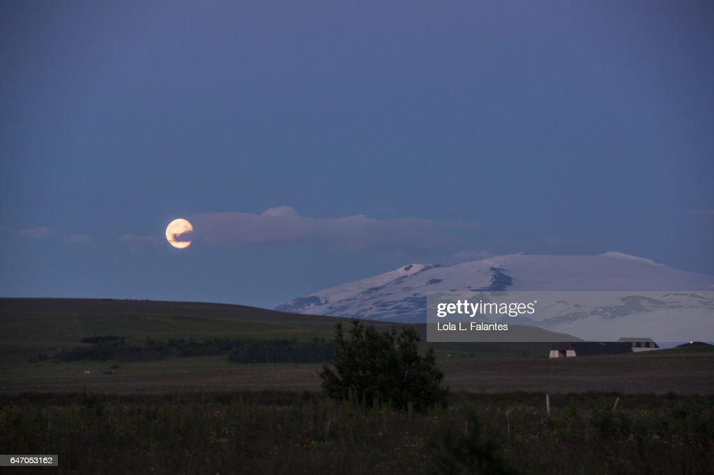 Eyjafjallajökull volcano : Foto de stock