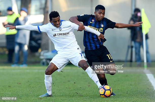 Eyob Zambataroof Atalanta BC Primavera competes for the ball with Rigoberto Manuel Rivas Vindel of FC Internazionale Primavera during the Primavera...