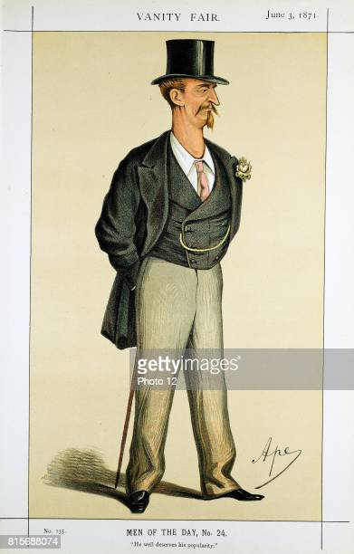 Eyre Massey Shaw 'Captain Shaw' Head of London Metropolitan Fire Brigade 186191 Cartoon by 'Ape' from 'Vanity Fair' London 3 June 1871