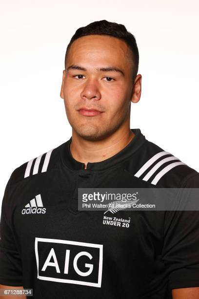 Ezekiel Lindenmuth poses during the New Zealand U20 Headshots Session at Novotel Auckland Airport on April 22 2017 in Auckland New Zealand