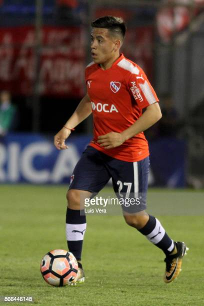 Ezequiel Barco of Independiente during a first leg match between Nacional and Independiente as part of the quarter finals of Copa CONMEBOL...